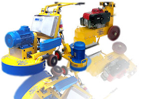 Surface and floor grinding machines
